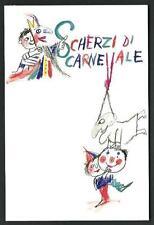 Emanuele Luzzati : Scherzi di Carnevale - cartolina formato cm 10,5 x 15