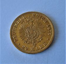 RAR;20 MARK; GOLDMÜNZE;8g, DEUTSCHES REICH;1875, FREIE+HANSESTADT HAMBURG,etui
