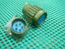 1,Military gold Twist Male Female 5-Pin Connector,5PF