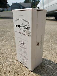 The Balvenie 21 years old PortWood Port Cask Scotch Empty Bottle & Original Box