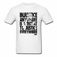 MLK Injustice Is A Threat To Justice Quote Men's T-Shirt