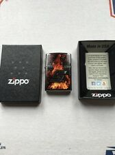 """Snap On """"FIRE"""" Boxed Zippo Lighter"""