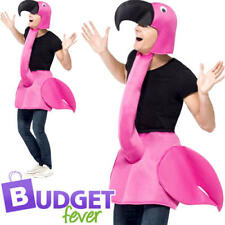 FLAMINGO Adulti Costume Animale Bird Tropicale Donna Da Uomo Costume Outfit Nuovi