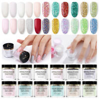 Sets 10ml Nail Glitter Dipping Powder Acrylic Powder Dip System Liquid Brush Kit