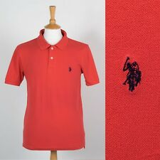 MENS U.S. POLO ASSN RED POLO T-SHIRT SHIRT CASUAL STYLE PREPPY S