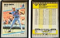 Bryn Smith Signed 1989 Fleer #394 Card Montreal Expos Auto Autograph