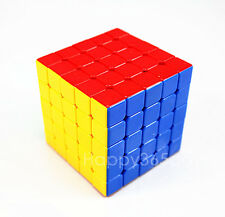 Colorful 5x5x5 Magic Cube Puzzles Game Professional Stickerless Toys Black