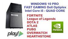 FAST GAMING DELL Core i5 PC Desktop HDMI nVidia Graphics PLAY FORTNITE Win 10