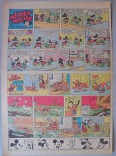 Mickey Mouse Sunday Page by Walt Disney from 12/3/1939 Tabloid Page Size