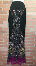 VENUS Maxi Skirt S Lace Over Lined Colorful Paisley Boho (3L25)