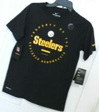 Boys Nike Dri-Fit PITTSBURGH STEELERS t shirt tee black size Medium