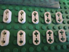 LEGO Technic 10 Cavi Sottili Piatta 1 x 2 con 2 Fori Asse Bianco