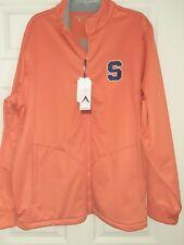 NWT Syracuse University Jacket Orangeman Orange Full Zip Mens XL Flannel Lined