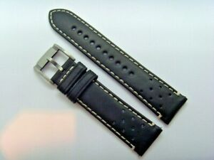 Fossil Original Spare Leather Strap CH2914 Watch Band Watch Strap Black 22 MM