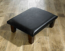 FAUX LEATHER VICTORIA FOOTSTOOL / POUFFE CHOICE OF COLOURS / SIZES