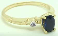 GENUINE CEYLON SAPPHIRE & DIAMONDS 14k Gold RING ** FREE SHIPPING & APPRAISAL **