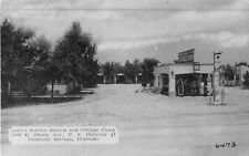 c1940 Loyd's Mobilgas Gas Station, Cottage Camp, Colorado Springs, CO Postcard