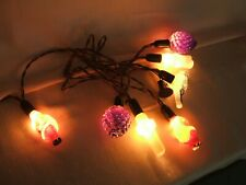 Rare Vintage Stand Of 7 Lights 4 Santa'S * Cross * Bird * Grapes Working!
