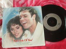 "Cliff Richard, Sarah Brightman All I Ask Of You POSP802 7"" UK Vinyl 45 Single"