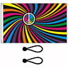 Rainbow  Whirl Flag 5 x 3 Ft Flag Poles Or Windsocks Poles. With Free Ball Ties