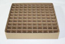Rejilla especializada cartón gf40 100 compartimentos para tubos electrónicos, p. ej., ecc81 ecc82 ecc83, etc