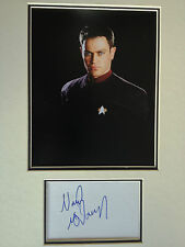 NEAL McDONOUGH - STAR TREK ACTOR - STUNNING SIGNED COLOUR PHOTO DISPLAY