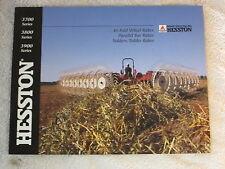 VINTAGE HESSTON 3700, 3800, & 3900 SERIES TEDDERS & RAKES 16 PAGE BROCHURE