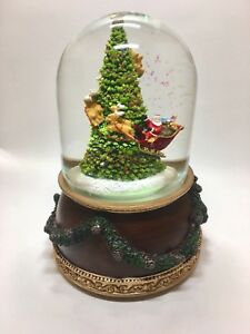 """Glitterdome Christmas Snow Globe by Roman """"Santa Claus is Coming to Town"""""""