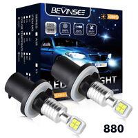 880 For Dodge Spirit 1989-1995 LED Fog Driving Light Bulbs 6500K White Foglight