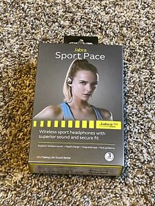 Jabra Sport Pace Wireless Bluetooth Earbuds with In-Line Remote & Mic BLUE