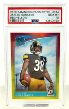2018 Donruss Optic JAYLEN SAMUELS #184 RED YELLOW PSA 10 STEELERS NFL