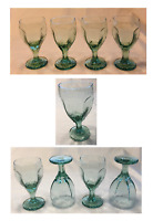 VINTAGE Libbey Drinking Glass Goblets 8 oz. CHIVALRY GREEN 4-Piece Set