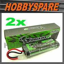 2x NEW TORNADO RC 7.2v 2400mah NiMH TAMIYA PLUG RADIO CONTROL CAR BUGGY BATTERY