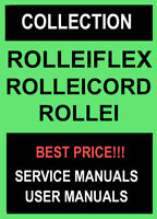 Rolleiflex Rolleicord Rollei Service Repair Manual Collection