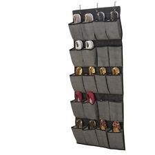 20 Pocket Over The Door Hanging Shoe Organizer/Caddy In Black