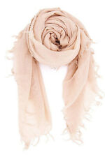 NEW! Chan Luu Soft Cashmere and Silk Scarf Wrap Solid CAMEO ROSE