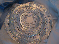"""36 💜SILVER PAPER LACE 4"""" 5"""" 6"""" 8"""" 10"""" 12"""" INCH 6 EA DOILY ROUND craft Assort"""