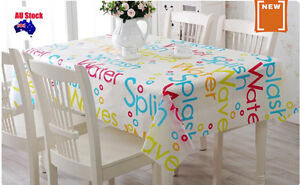 130x180 Quality Floral Rectangle Plastic PEVA Party TableCloth Cover table cloth
