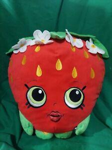 "Shopkins Strawberry Kiss Stuffed Plush Toy Pillow 15"" Large"