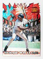 Bernie Williams #FW-9 (1997 Pacific Crown) Fireworks Die-Cut, NY Yankees