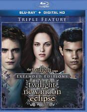BLU-RAY Twilight Saga: Twilight/ New Moon/ Eclipse (Blu-Ray, 3-Disc Set) NEW