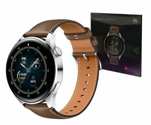 HUAWEI WATCH 3 46mm eSIM GPS Smartwatch ( Classic Edition with Leather Strap ).