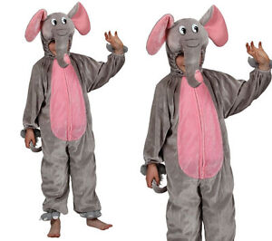 Kids Elephant Fancy Dress Outfit Jungle Fun Animal Child Costume Book Day New