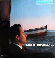 NICO FIDENCO SAME OMONIMO  LP ITALY 1961  ENNIO MORRICONE -TROVAJOLI -POTENZA