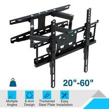 TV Wall Mount Bracket Swing Arm Tilt Swivel  24/28/32/40/43/49/50/55/60 Inch LED