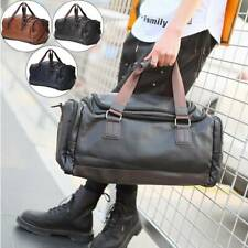 Men Bag Leather Handbag Holdall Leather Gym Travel Bag Luggage Duffle Weekend