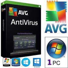 AVG Antivirus 2017 1ANNO 1PC licenza ORIGINALE e  DURATA VERA