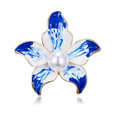 New Elegant Pearl Flower Brooch Pin Banquet Collar For Women Jewellery Party