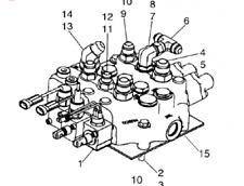 NEW HOLLAND LT185 Skid Steer - Loader Arm Control Valve, OEM# 84128130