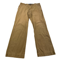 American Eagle Relaxed Straight Beige Khaki Chino Pants Men Size 32 x 32 Casual